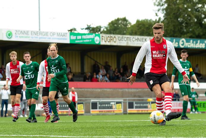 Rico de Boer (rechts, op archiefbeeld) scoorde tegen Gemert uit een strafschop.