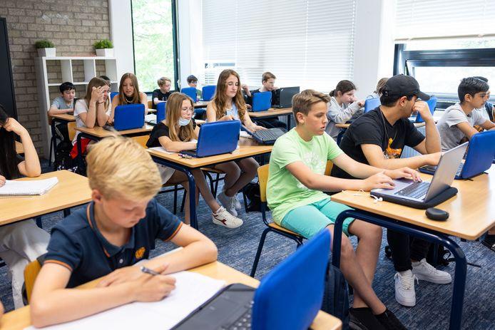 De klassen lopen weer vol, zoals hier op het 2College Cobbenhagenlyceum in Tilburg