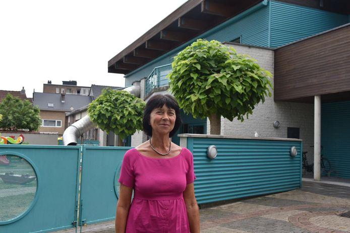 Burgemeester Ingrid Holemans voor kinderdagverblijf Jannemieke in Zaventem.