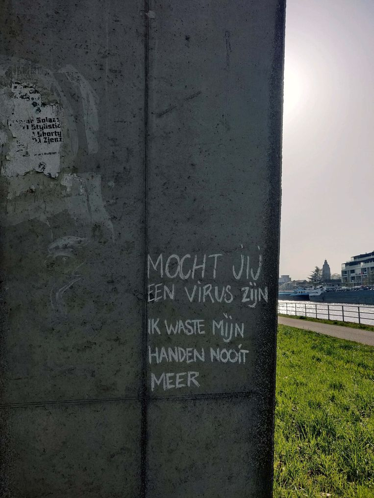 Krijtgedichten in Oudenaarde Beeld Laura Van Poucke