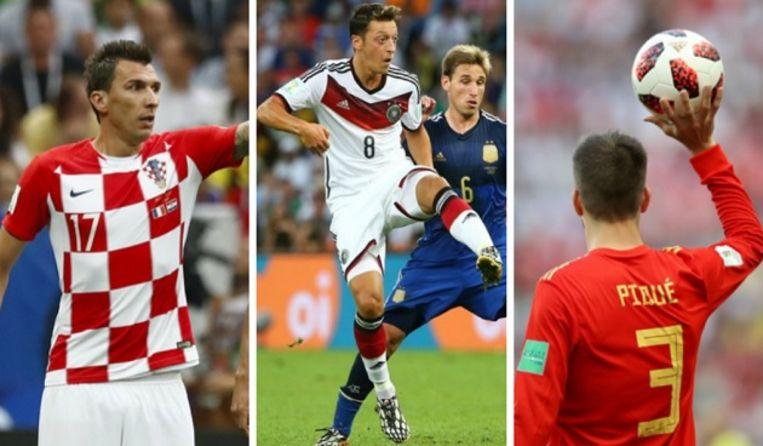 Mario Mandzukic, Mesut Özil en Gerard Piqué zijn ondertussen op internationaal pensioen.
