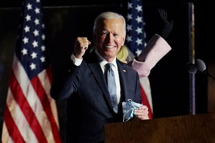 Democraat Joe Biden wint de strijd om het Witte Huis, concluderen Amerikaanse media.