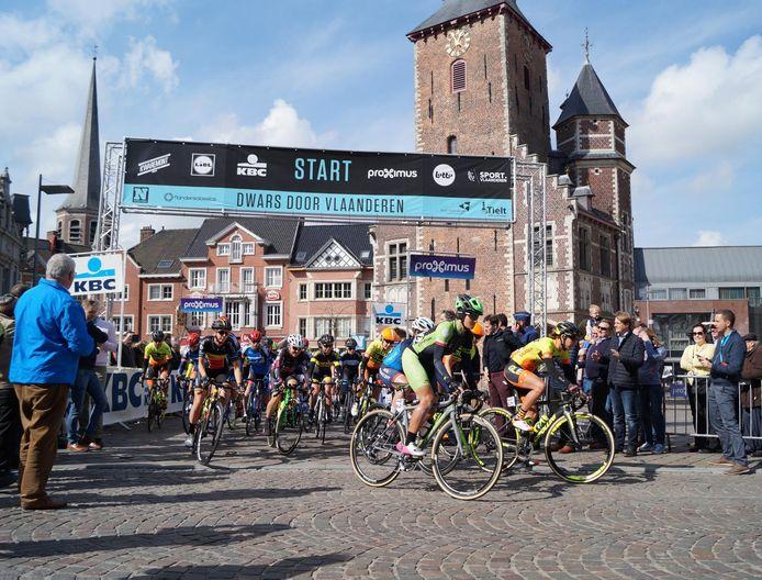 Tielt is niet langer de startplaats van de dames van Dwars Door Vlaanderen.