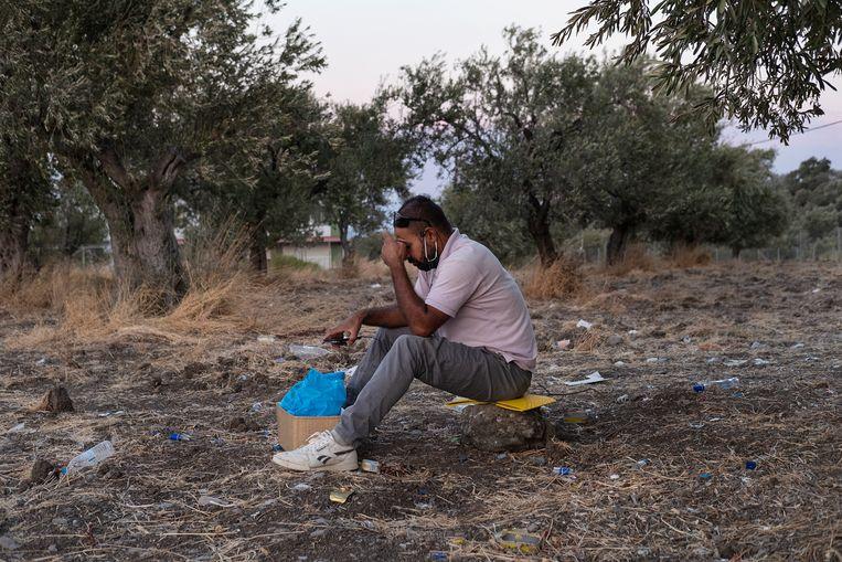 Mede door de coronapandemie daalde de hoeveelheid asielaanvragen in 2020 van 77 duizend naar 40 duizend. Beeld Giulio Piscitelli / de Volkskrant