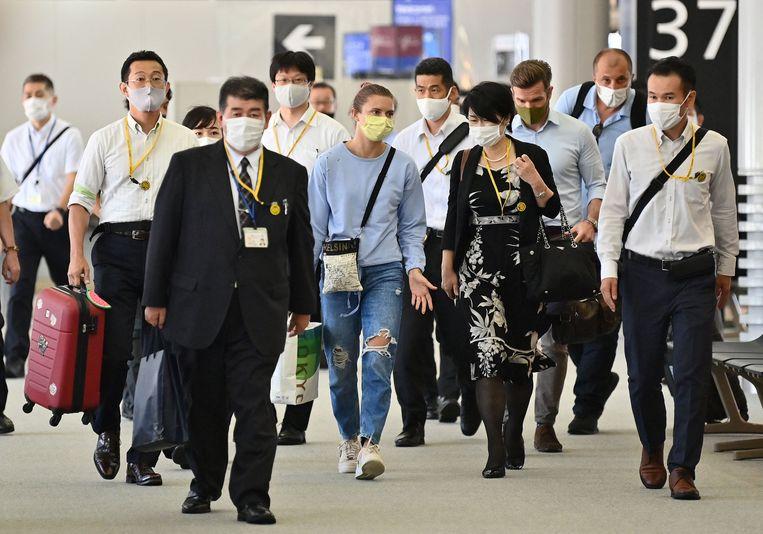 Tsimanoeskaja nam verrassend de vlucht naar Wenen en niet naar Warschau. Beeld AFP