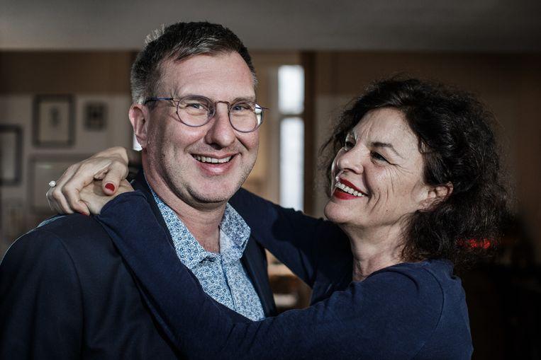 Jan Verheyen en Hilde Van Mieghem leggen hun meningsverschillen bij over het #MeToo-debat. Beeld Bob Van Mol