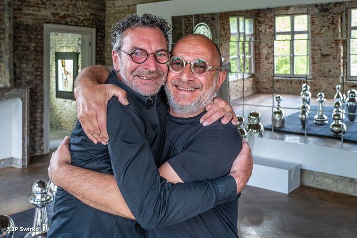 Danny Cobbaut en Wouter Bolangier in kasteel Terlinden.