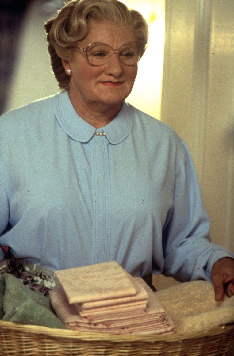 Robin Williams in 'Mrs. Doubtfire'(1993) Beeld PHOTO_NEWS