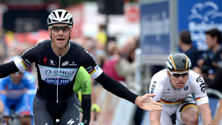 Tom Boonen won vorig jaar de eerste rit van de Baloise Belgiu Tour. Beeld BELGA