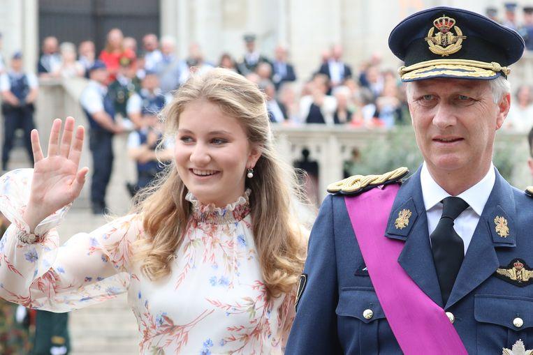 Kroonprinses Elisabeth en koning Filip