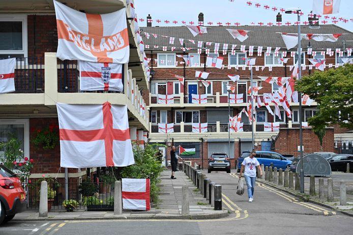 Vlaggen in het zuiden van Londen.