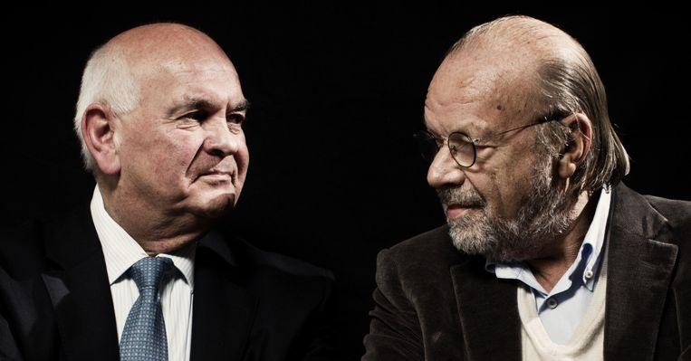 Ivan De Witte en journalist Hugo Camps Beeld Jonas Lampens