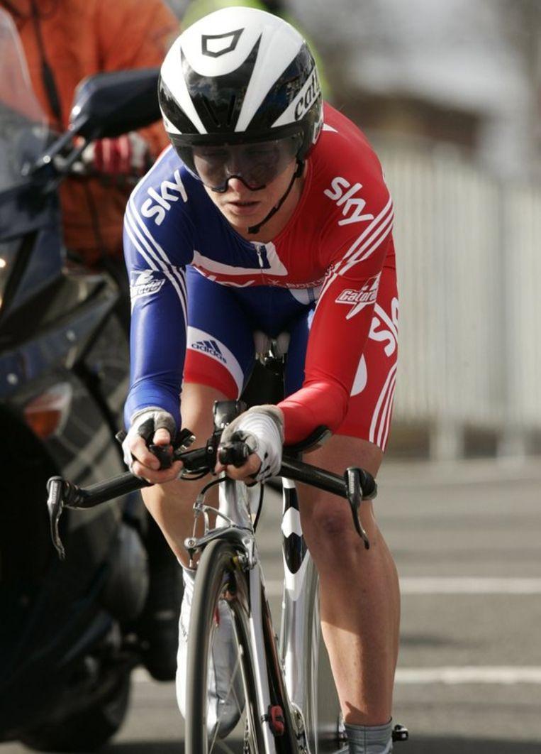 Pooley had 15 seconden voorsprong op de Duitse Judith Arndt. Beeld UNKNOWN