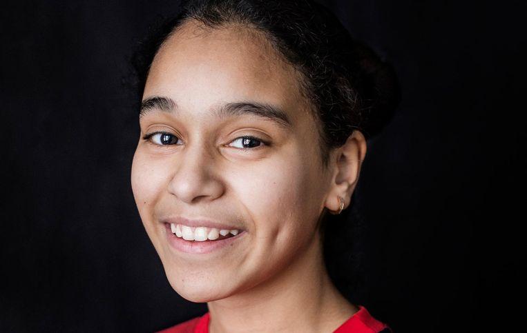 Fatima Boukris: 'Soms vind ik het niet zo leuk dat ze het steeds samen over andere scholen hebben' Beeld Eva Plevier