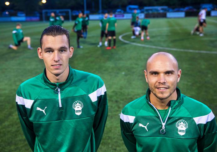 Jordi Mulder (links) en Dirk Kusters: ,,We zijn nuchter genoeg om te beseffen dat we niet gaan winnen.''