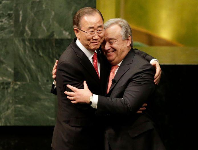 Antonio Guterres en zijn voorganger Ban Ki-moon