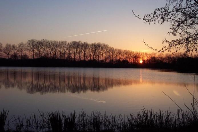 Natuurgebied de Vilt bij zonsondergang