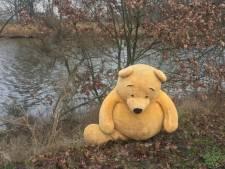 Reusachtige Winnie de Poeh gedumpt langs water in Breda: 'Je ziet hoe veel pijn hij heeft'
