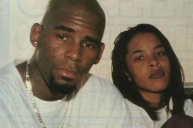 Aaliyah trouwde op 15-jarige leeftijd met de twaalf jaar oudere zanger R. Kelly. Beeld x