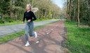 Tamara Schuurmans tijdens het hardlopen.