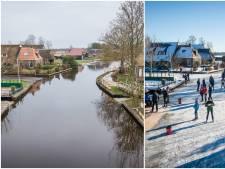 Schaatsgekte in de Kop van Overijssel is in nog geen 170 uur veranderd in serene rust