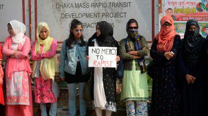 Studentenprotest na verkrachting universiteitsstudente in Bangladesh