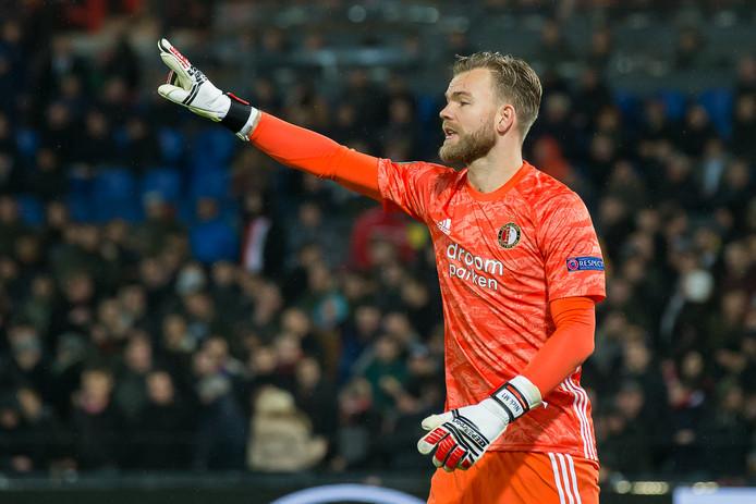 Nick Marsman stond donderdag tegen Rangers ook al onder de lat bij Feyenoord.