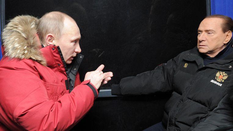 Berlusconi en Poetin in 2012 Beeld AFP
