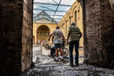 Vrijwilligers en parochianen van de afgebrande O-L-V Geboorte kerk in Hoogmade mochten afgelopen jaar voor de eerste keer weer naar binnen sinds de brand.