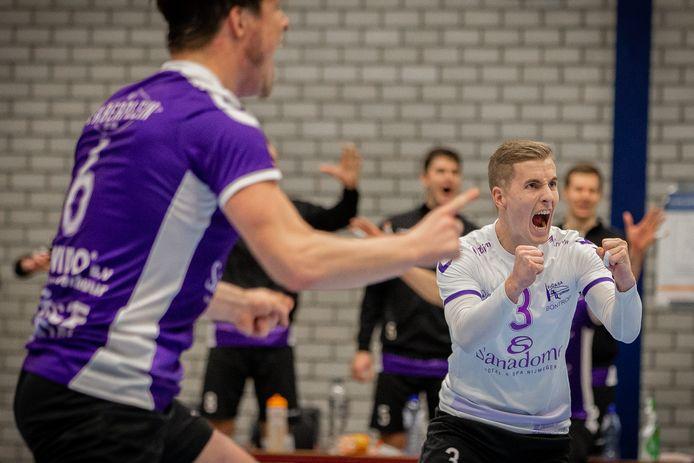 Archieffoto: Taurus in actie tegen Vocasa in de Eredivisie Volleybal.