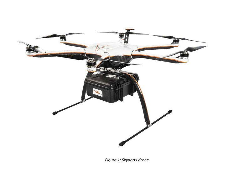 Een drone van Skyports