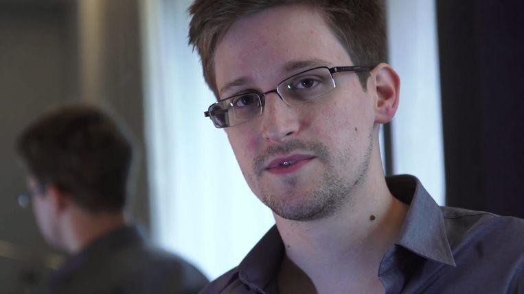 Klokkenluider Edward Snowden leeft al zes jaar ondergedoken in Moskou.  Beeld EPA