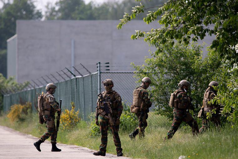 Opnieuw zoeken militairen naar Jürgen Conings. Beeld BELGA