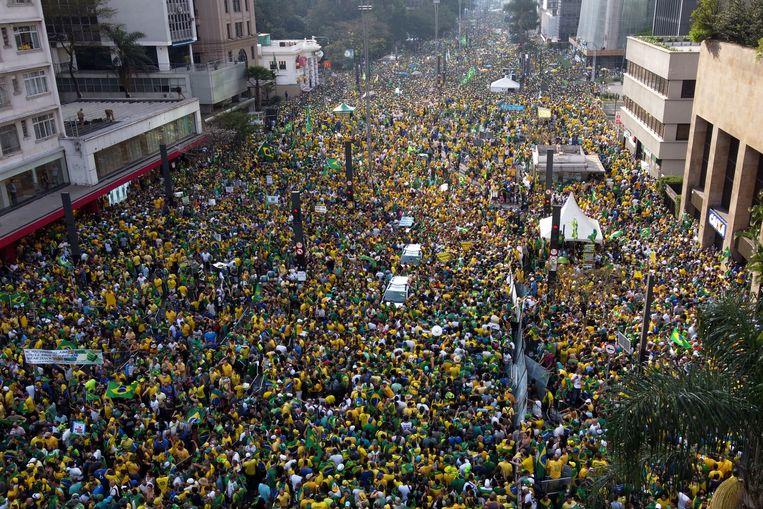 Centinaia di migliaia di sostenitori di Bolsonaro hanno risposto alla chiamata del presidente a scendere in piazza il giorno dell'indipendenza.  Immagine Getty Images