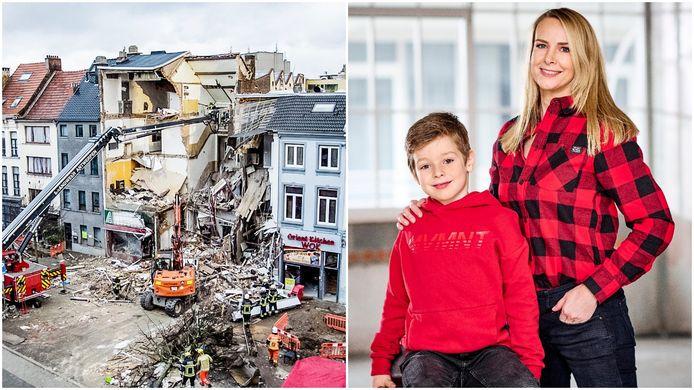 De woning van Linda Baclaine (46) en haar zoontje Daan (7) werd verwoest door de gasexplosie in 2018.