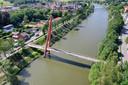 Het kanaal Gent-Oostende in Beernem, waarlangs de bomen gekapt worden.
