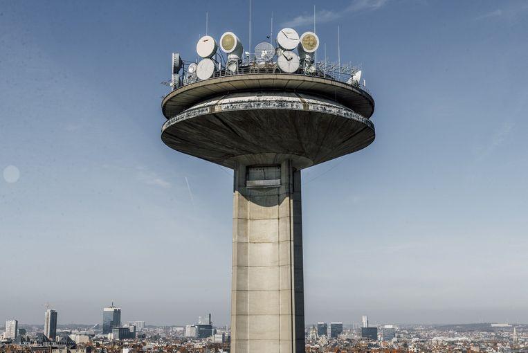 De VRT-toren. Beeld Illias Teirlinck