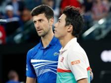 Djokovic naar halve finale na opgave moegestreden Nishikori