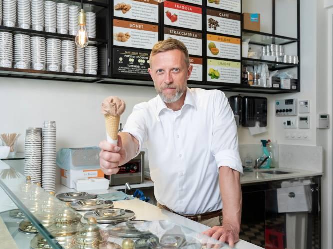 """Jan (51) verruilde zijn job als grafisch vormgever voor een eigen ijssalon: """"Mijn omzetcijfer is recht evenredig met het aantal uren zonneschijn"""""""