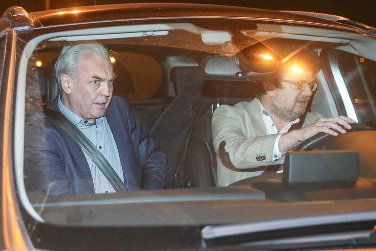 Dokter André Gyselbrecht mocht deze avond de gevangenis van Beveren verlaten voor een weekend.  Beeld Photo News