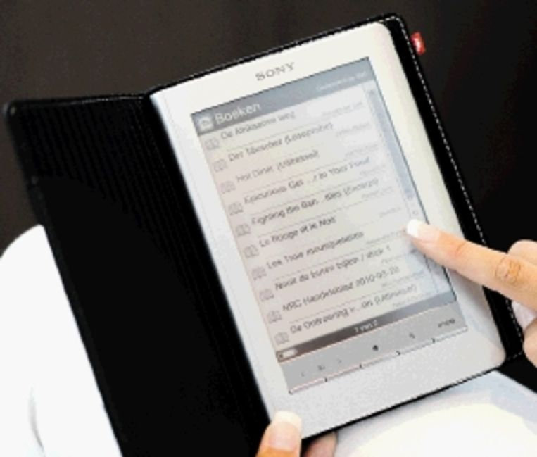 De e-reader, bedreiging of kans voor de uitgeverijen? (FOTO ANP ) Beeld