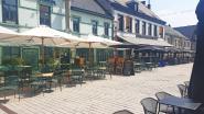 Heetste dag ooit op de Markt in Asse: terrassen blijven leeg door hitte