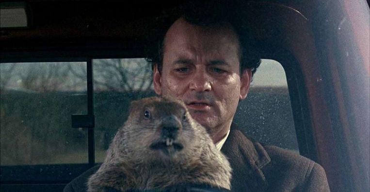 Bill Murray in Groundhog Day. Beeld