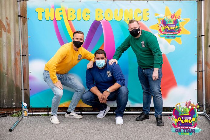 De organisatoren Jan, Bruno en Tom van The Big Bounce on Tour zitten al volgeboekt tot juni.