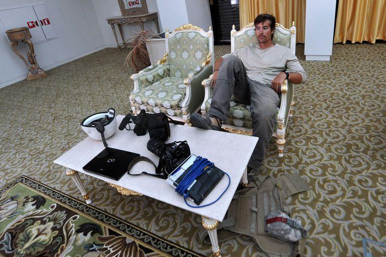 Foley op het vliegveld van de Libische stad Sirte. Beeld ANP