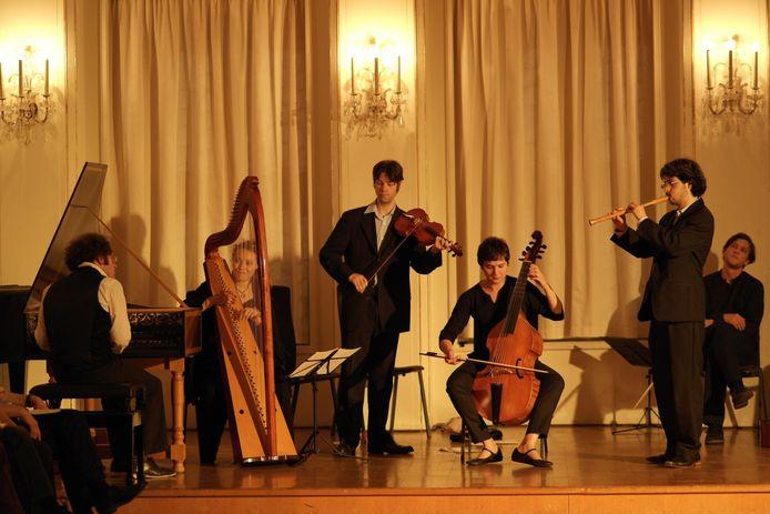 The Scroll Ensemble: jonge specialisten in oude muziek, hier tijdens een optreden enkele jaren geleden.