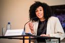 Open Vld-politica Sihame El Kaouakibi.  De politica en haar vzw liggen al enkele weken onder vuur nadat het parket een onderzoek startte naar fraude.