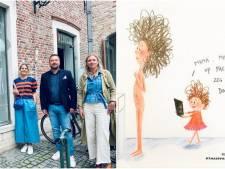"""Hollywoodsterren waren al in de ban van Vlaamse illustratrice, nu strijkt 'Quarantaine Mama' neer in Brugge: """"Het voelt als thuiskomen"""""""