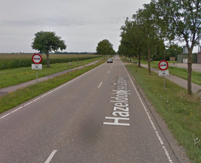 De Hazeldonkse Zandweg tussen Etten-Leur en Zevenbergen: hier geldt een inhaalverbod.