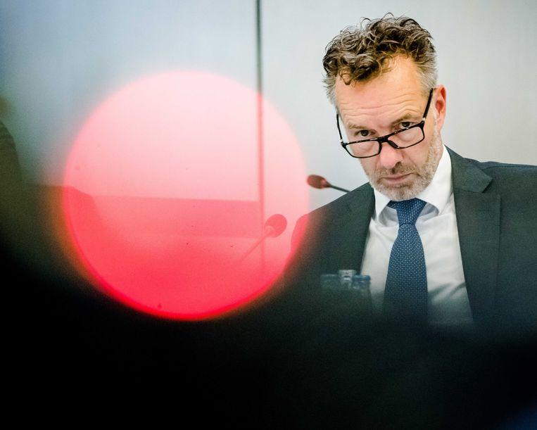 Wybren van Haga eerder deze zomer tijdens een technische briefing in de Tweede Kamer over ontwikkelingen rond het coronavirus. Beeld ANP